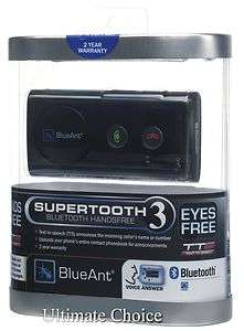 BLUEANT SUPERTOOTH 3 BLUETOOTH CAR KIT SPEAKER PHONE   NEW IN ORIGINAL