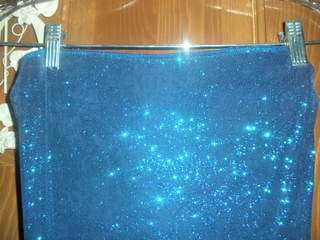 Womens NWOT M Blue Sparkly Strapless Dress SUPER CUTE & SEXY