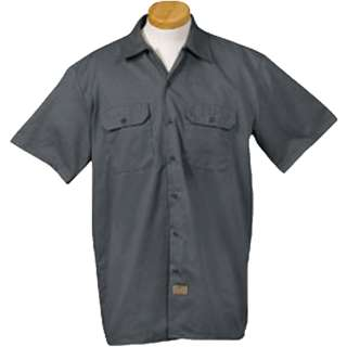 Mens 5.2 Oz. Short Sleeve Work Shirt S,M,L,XL,2X,3X Button Front New