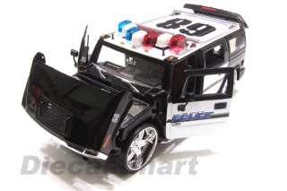 JADA DUB CITY 124 HUMMER H2 DIECAST POLICE CAR