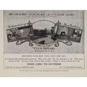 1908 Ad Monmouth Beach Club House New Jersey ORIGINAL   Original Print