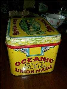Antique OCEANIC CUT PLUG Tobacco Tin~ NICE