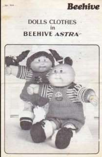CABBAGE PATCH KIDS DOLLS Knit Clothing PATTERN c.1984