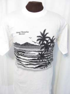 vintage HAWAII ISLAND PARADISE 80s retro indie t shirt XL