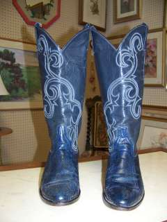 Fabulous Vintage Womens Larry Mahan Snakeskin & Leather Western Boots