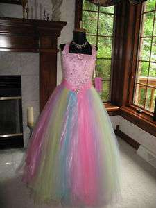 Perfect Angels 1366 Pink Rainbow Pageant Gown 10