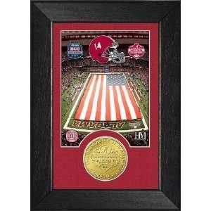 Champions Alabama Crimson Tide Bronze Coin Frame Sports Collectibles