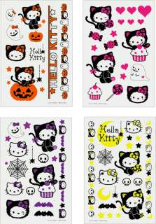 SANRIO HELLO KITTY GOTH HALLOWEEN TEMPORARY TATTOO STICKER