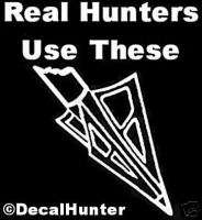 Bowhunting Deer Decal Sticker Arrow Head Decals 6