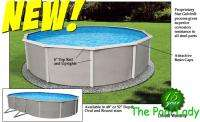 Round Asahi Belize Complete Above Ground Swimming Pool Package