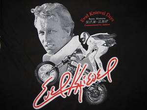 Evel Knievel Commemorative Concert style T Shirts