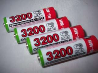 AA HR6 3200mAh Ni MH 1.2V Rechargeable Battery ULTRACELL PLUS AM3