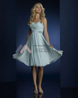 Sweetheart Knee Length Chiffon Bridesmaid Dresses Gown Size6 8 10 12