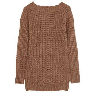 Vancl Nina Chunky Cable Knit Sweater Brown (Women/ladies)XS S M L
