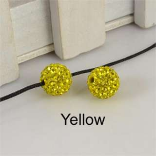 Wholesale 5/10pcs 10mm Loose Swarovski Crystal Pave Disco Ball Beads