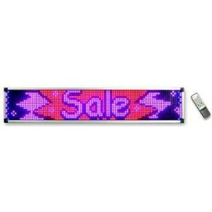 Ad Lite Programmable 4 Color LED Window Sign Display (RBPP) 15.5 x 79