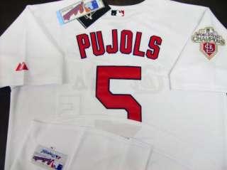 ALBERT PUJOLS St Louis Cardinals #5 2011 W/S Champion Patch Home