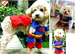 PET/DOG/CAT cloth super man costume any size super cool