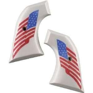 Super Blackhawk Scrimshaw Ivory Polymer   American Flag
