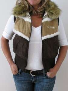 NFL SEATTLE SEAHAWKS FOOTBALL FAUX COYOTE FUR SHERPA LINED VEST JACKET