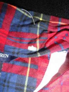 POLO RALPH LAUREN GIRLS PLAID SHIRT W/ SCARF PIMA COTTON SIZE 4 4T NWT