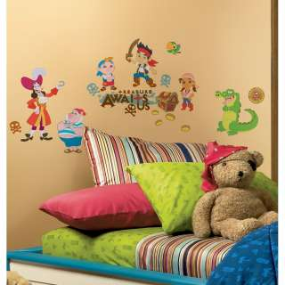 32 New JAKE AND THE NEVER LAND PIRATES WALL DECALS Disney Pirate