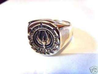Sterling Silver 925 Galactica BSG 75   STAR WARS Ring