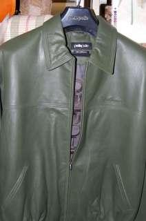 MARC BUCHANAN PELLE PELLE Green Leather Jacket size 46