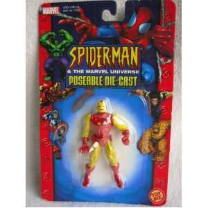 Marvel Universe Poseable Die cast IRON MAN Action Figure   2 3/4 Tall
