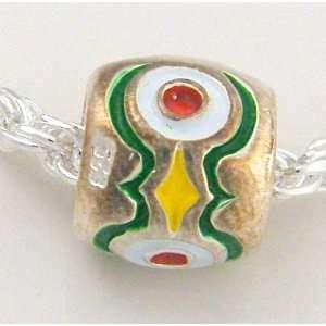 Kaleidoscope Sterling Silver Spacer Bead