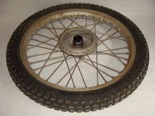 1975 Bultaco Alpina 350 Front Wheel Tire Rim   Image 01