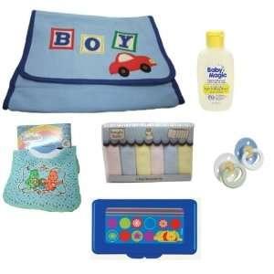 Newborn Baby Boy Gift Set, Includes Baby Boy Blue Diaper