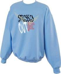 Stressed Out Angel Wings Christian Sweatshirt S  5x
