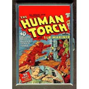 SUB MARINER HUMAN TORCH 40s COMIC BOOK CIGARETTE WALLET