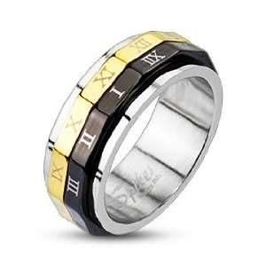 Roman Numeral Dual Spinner Ring   Size 7 West Coast Jewelry Jewelry