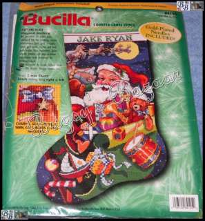 Bucilla JOLLY OLD ST. NICK STOCKING Santa Counted Cross Stitch
