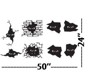 LARGE Wall Decor Decal Sticker Vinyl MONSTER