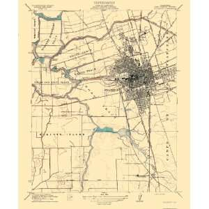 com USGS TOPO MAP STOCKTON QUAD CALIFORNIA (CA) 1913 Home & Kitchen