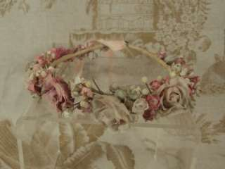 French Silk Flowers Headband for Jumeau, Bru, Steiner Bebe Doll