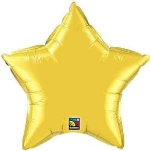 Foil Balloons   Stars Gold Star Balloon   Gold Flat Foil Star Balloon