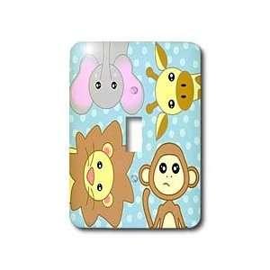 Janna Salak Designs Jungle Animals   Curious Baby Animals Lion Monkey
