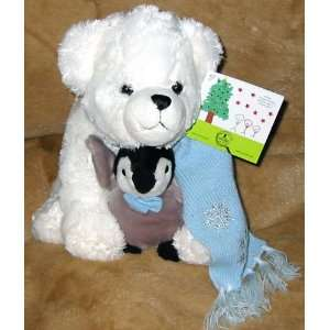 St. Jude Toby and Tux 12 Plush Bear and Penguin