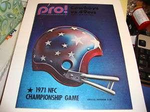 1971 PRO FOOTBALL NFL GAMEDAY MAGAZINE RARE PLAYOFFS