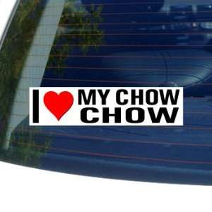 I Love Heart My CHOW CHOW   Dog Breed   Window Bumper