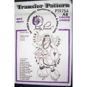 Hot Iron Transfer Pattern #9754 Native American Warrior (For Punch