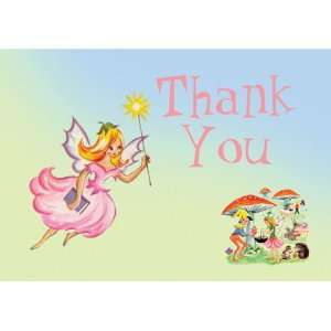 Dolce Mia Fairies Birthday Thank You Card Party Pack   8