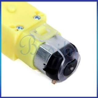 Smart Car Robot Plastic DC 3V Drive Gear Motor for Tire Wheel