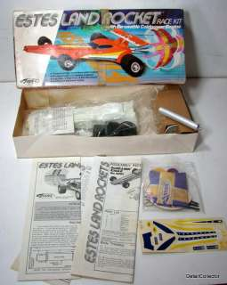 rare Estes LAND ROCKET Race Car Unbuilt Model Kit in Box 1970s Vintage