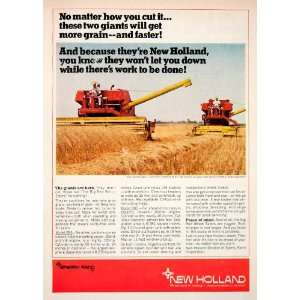 1968 Ad Sperry Rand New Holland Combine Model 995 985