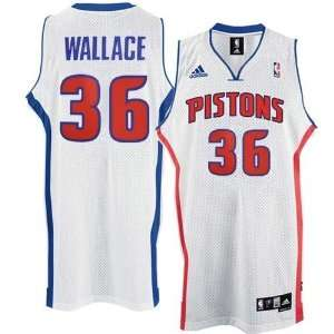 adidas Detroit Pistons #36 Rasheed Wallace Youth White
